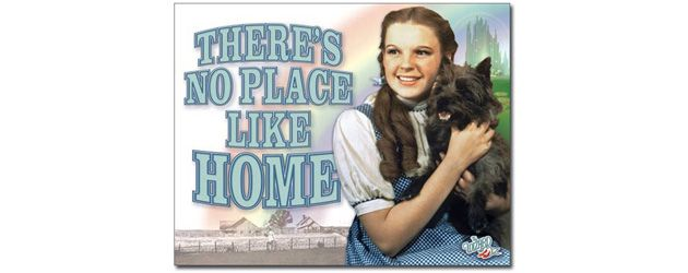 No Place Like Home Dorothy Wizard Of Oz Tin Sign Carpet