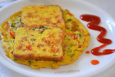Tasty Appetite: Bread Omelet / Healthy Breakfast Menu / step by step: