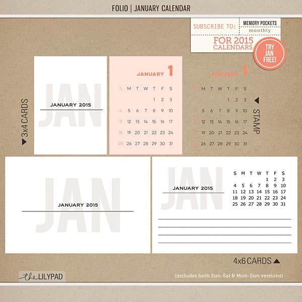 Free Folio January 2015 Journal Cards | The Lilypad Blog