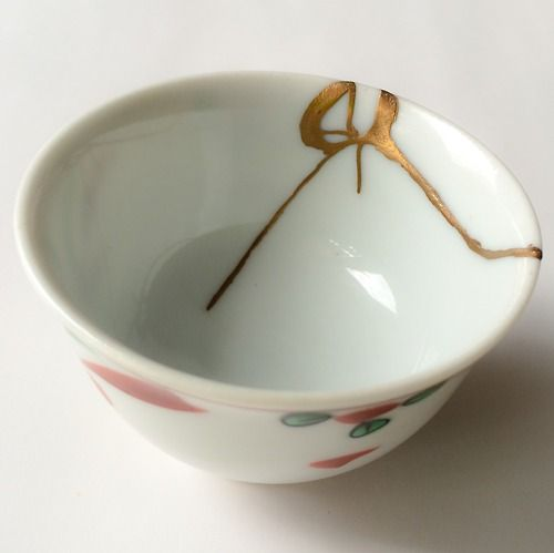 Beautiful brokenness kintsugi for a Kutani porcelain sake cup