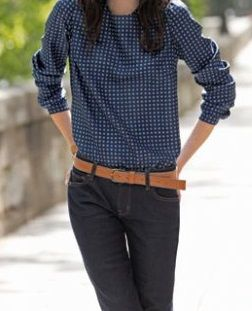 Blusa manga larga, patrón gratis