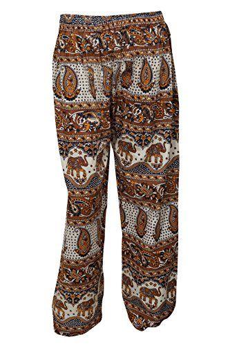 d88f2899997d Womens Pants Tribal Funky Palazzo Trouser COTTON CHIC Mog... https