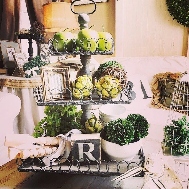 17 best images about kitchen island decorating on pinterest for Kitchen island centerpiece ideas