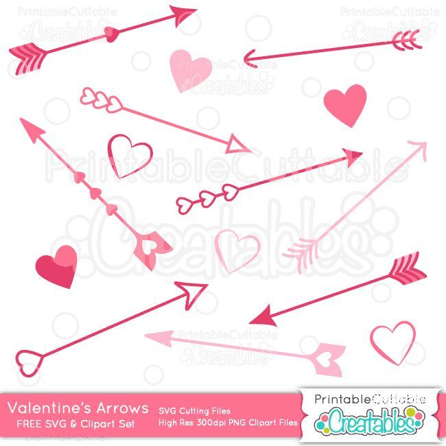 Edit A Line Or Arrow Line Arrow Wordart Picture Clip: Valentines Day Love Arrows Free SVG Cutting File & Clipart