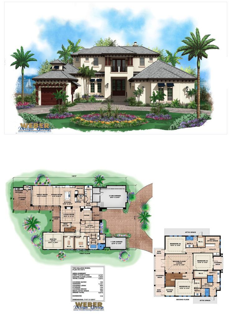 Caribbean House Plan 2 Story Coastal Contemporary Floor Plan Caribbean Homes Beach House Plans Family House Plans