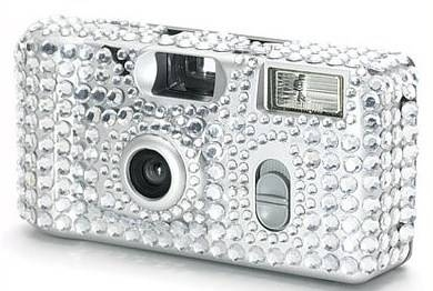 Lots of cheap bling wedding stuff! LOVE the cameras :)