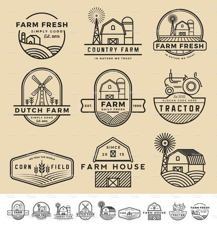 vintage and modern farm badge logo and labels                                                                                                                                                                                 More