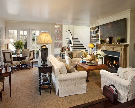 Traditional family room design pictures remodel decor for Small family room design