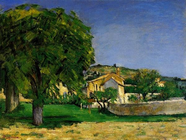 Chestnut trees and farm at Jas de Bouffan Paul Cézanne