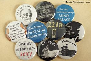 A variety of Sherlock crafts, very cool
