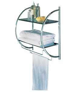 Shelf and Towel Rail - Chrome.