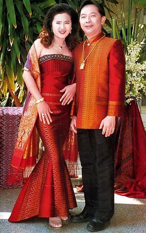 Formal Thai Style Clothes for Man and Woman