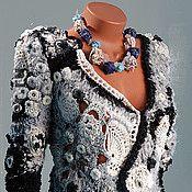 """Одежда ручной работы. Ярмарка Мастеров - ручная работа Жакет """"Ночное серебро"""". Handmade."""