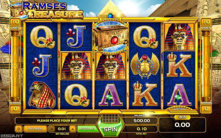 Ramses Treasure - http://www.777free-slots.com/free-slot-online-ramses-treasure/