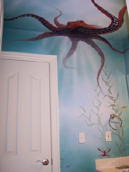 underwater mural. Idea for our son or daughters room one day.