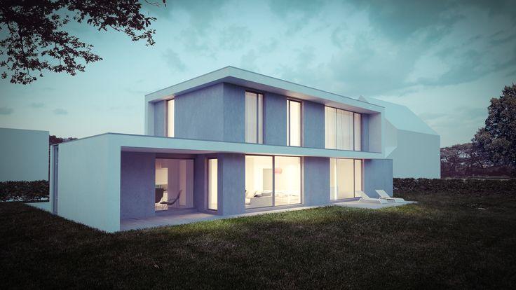 Maison unifamiliale. Architecte: www.openarchitectes.be Image: www.perspectif.be