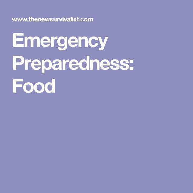 Emergency Preparedness: Food