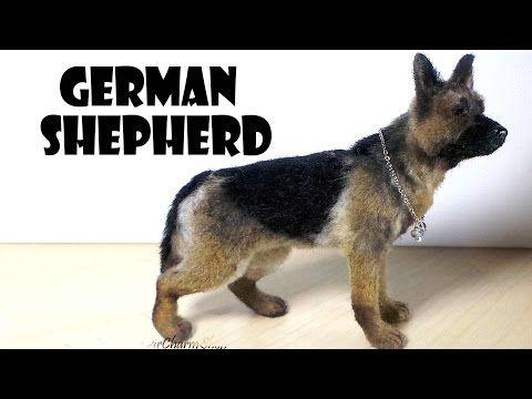Miniature German Shepherd - Polymer Clay Tutorial - YouTube