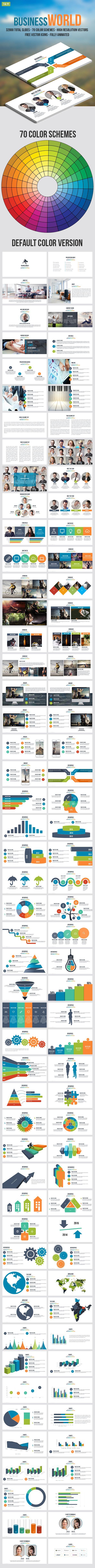 Business World Keynote Presentation - Business Keynote Templates