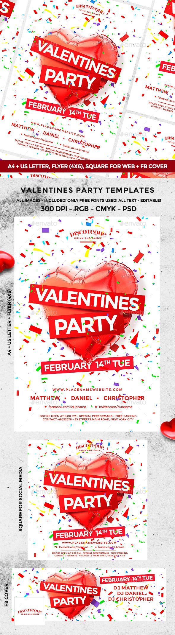 209 best Valentines Flyer Templates images on Pinterest
