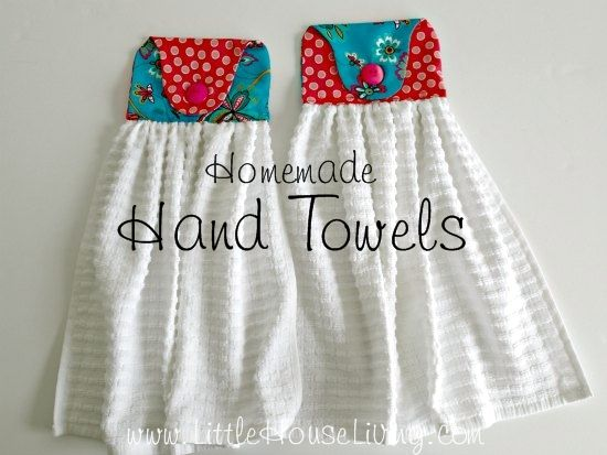 These cute homemade hand towels are perfect for your kitchen or to make for gifts. So easy and so pretty! Free pattern and tutorial.