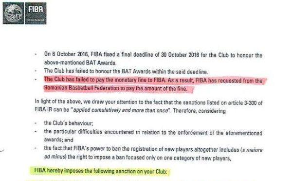 Având în vedere problemele cunoscute și mult discutate, izvorâte din sancțiunile impuse de BAT, FIBA și FR Baschet, urmare a nesoluționării litigiului pe speța CSM Târgoviște – George Dikeoulakos, dar și a faptului că suntem în imposibilitatea de a forma o echipă competitivă pentru a juca meciurile din Liga Națională de Baschet Feminin, Cupa și Supercupa României, în urma numeroaselor...