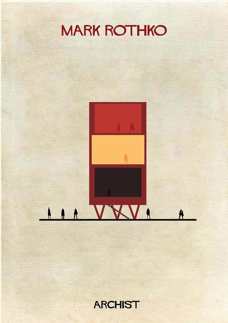 Galería - ARCHIST: Ilustraciones Famosas de Arte Reimaginadas como Arquitectura - 71