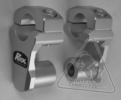 Rox Handlebar Risers for 28mm (1-1/8in) Bars including BMW F800GS Adventure, R1200GS '04-'12, R1200GS Adventure '06-'13, KTM 690 Enduro, 950 Adventure, 990 Adventure, 1190 Adventure, Triumph Tiger 800XC, & Yamaha XT1200Z Super Tenere