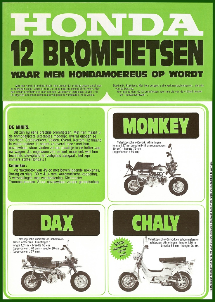 Honda Dax , Chaly and Monkey (Dutch)
