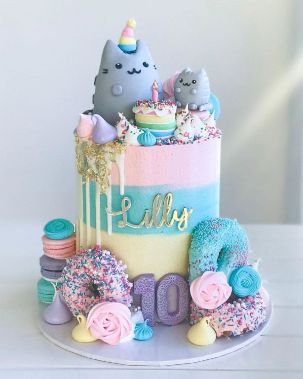 Birthdaycake Happy Birthday Cake In 2020 Pusheen Cakes