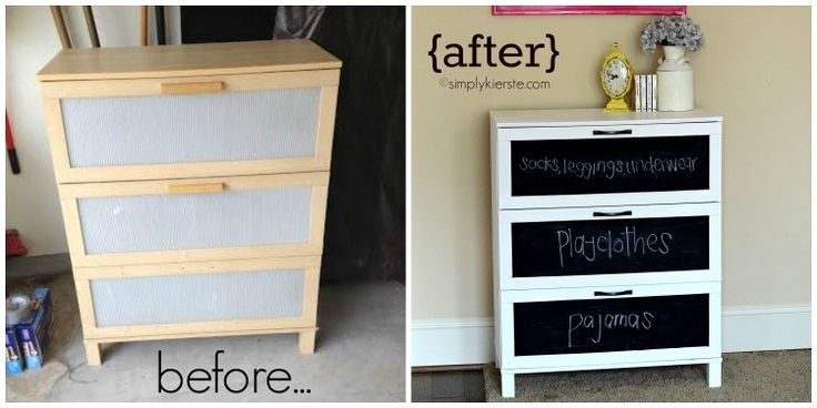 Before After Laminate Dresser Makeover Blackboard