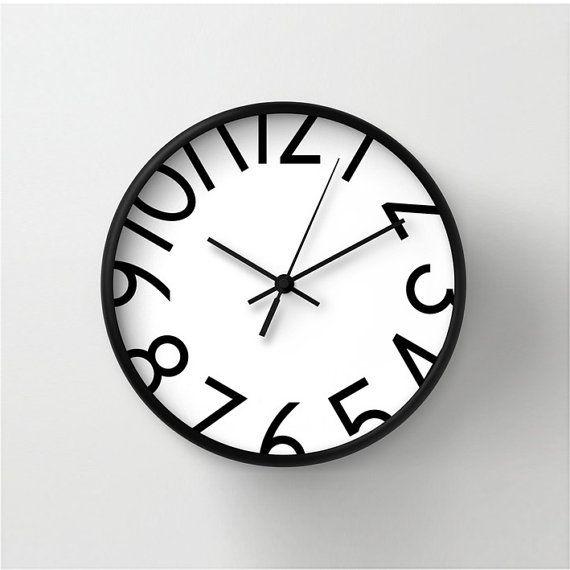 Orologio con grandi numeri orologio di di LazyLittleLuckyGirl