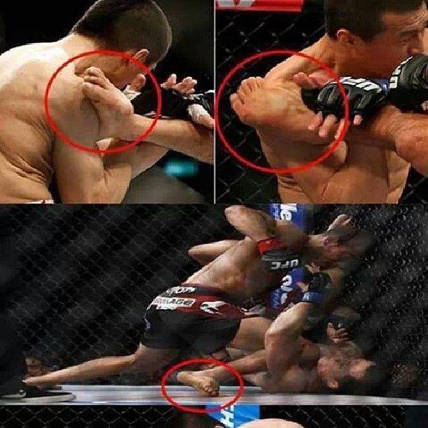Defesa bem sucedida de Aldo com um pé quebrado. O que é um campeão!  #josealdo