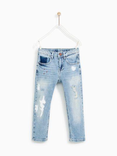 f9790259 Imagen 2 de JEANS ROTOS Y PINTURA de Zara Boys Jeans, Jeans Pants, Paint