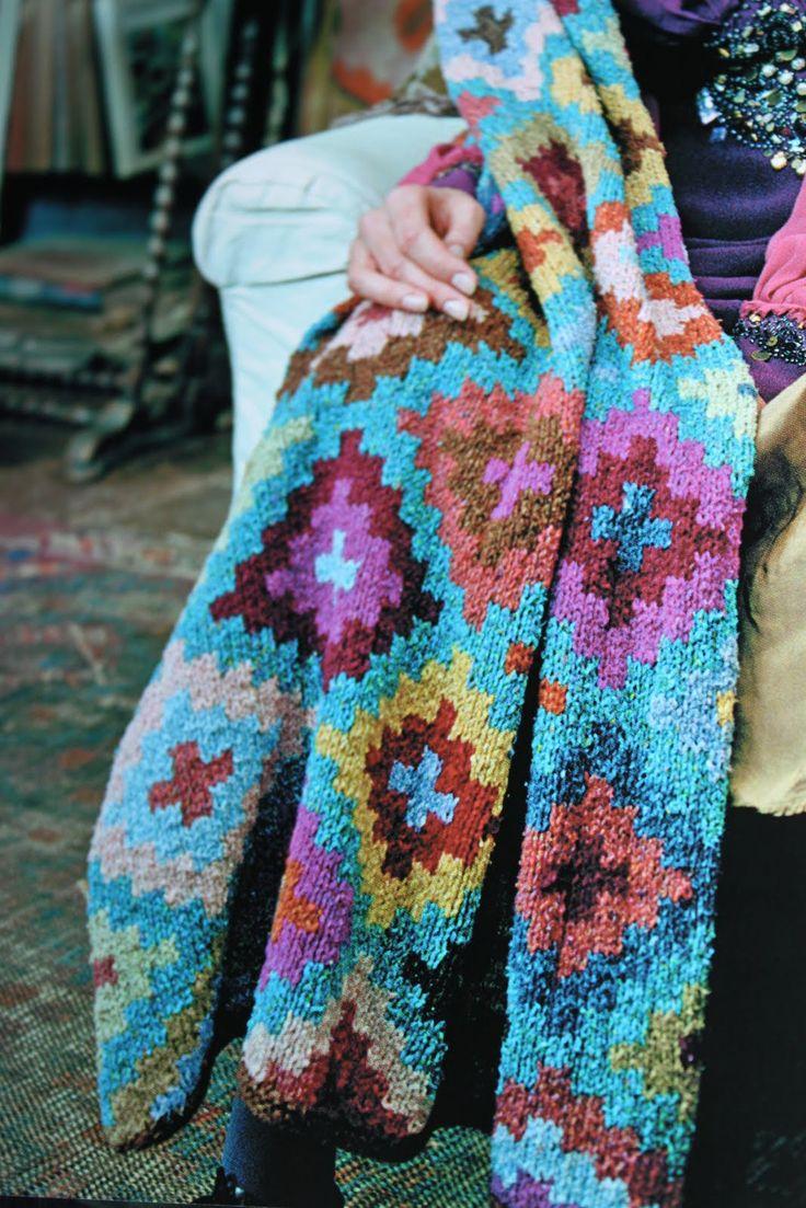 Rowan Knitting Pattern Baby Blanket : Kaffe Fassett 13. Knitting, Crocheting, Needlepoint ...