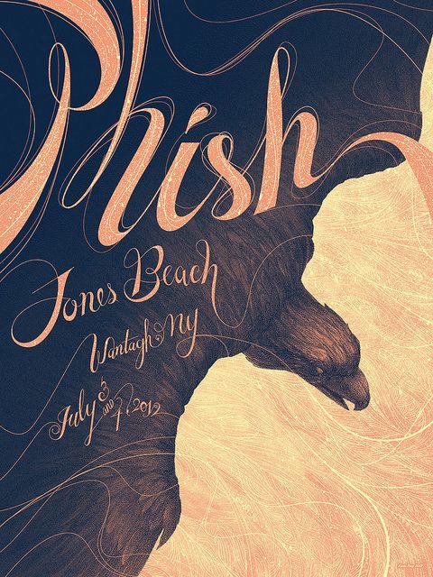 Phish / Kevin Tong: Design Inspiration, Graphic Design, Jones Beach, Kevin Tong, Phish Poster, Art, Illustration, Gig Poster, Music Poster