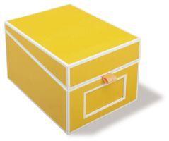 Semikolon Visitenkartenbox mit Register, Karton,