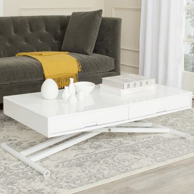 adjustable height coffee table