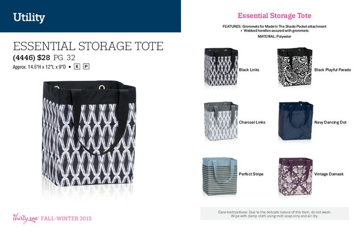 Essential Storage Tote 28 Https Www Lindsaysorganizationaloasis Thirtyone Fall Winter 2017 Pinterest 31 Bags Gifts And Ideas