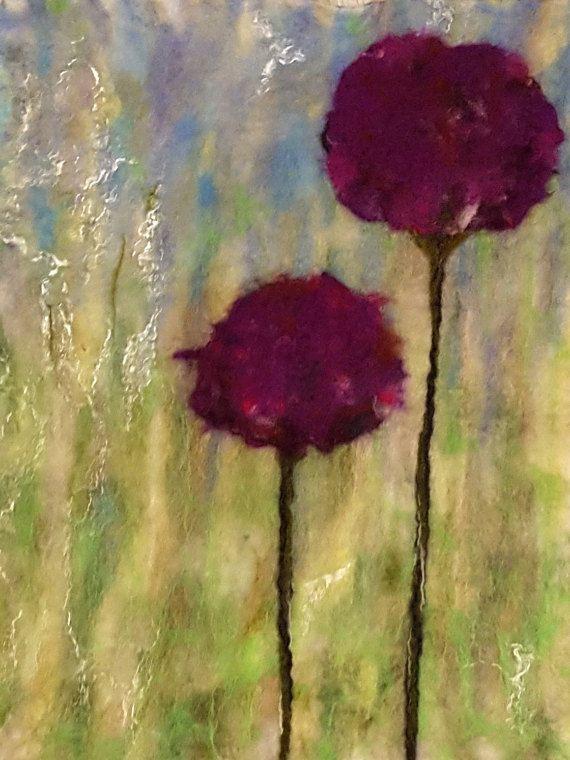 Весна яркий зеленый фиолетовый шары радость шерсть два от Anniiko