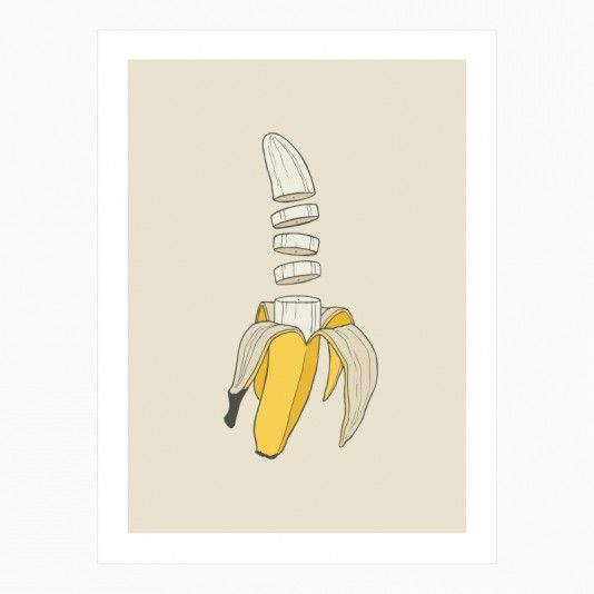 Banana Split art | decor | wall art | inspiration | contemporary | home decor | idea | humor | gifts