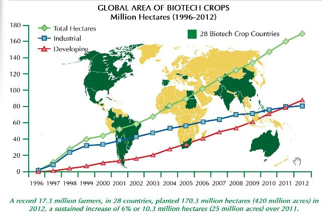 CHARTS: Worlds GMO Crop Fields Could Cover the US 1.5 Times Over