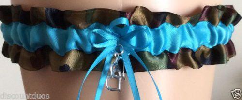 25.73$  Watch here - http://visau.justgood.pw/vig/item.php?t=4ticlu37810 - 1 Turquoise Camo Wedding Garter Keepsake Garter 25.73$