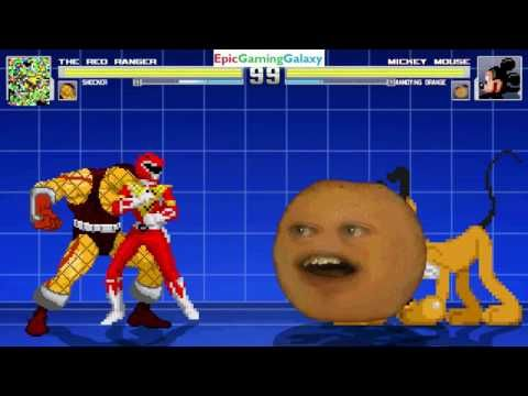 The Annoying Orange And Rainbow Dash VS The Blue Ranger And Scream In A MUGEN Match / Battle / Fight - YouTube