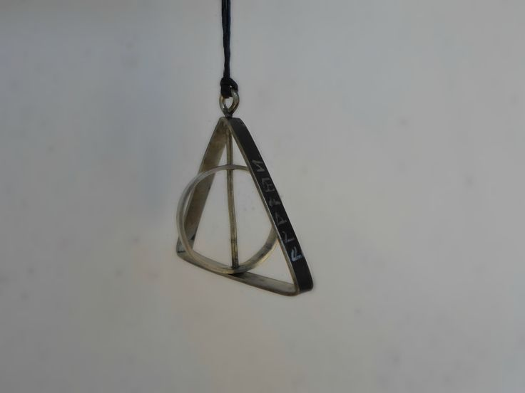 deathly hallows spinning pendant necklace