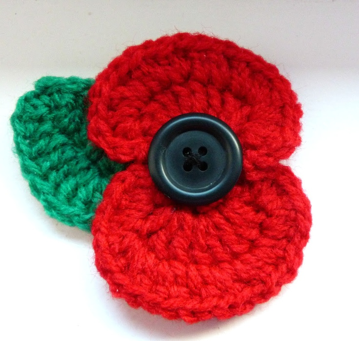 Crochet Poppy.                                                                                                                                                                                 More
