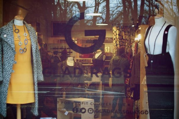 Glad rags thrift store, not-for-profit fashion: http://glasgow.stv.tv/articles/259539-gladrags-not-for-profit-thrift-store-opens/