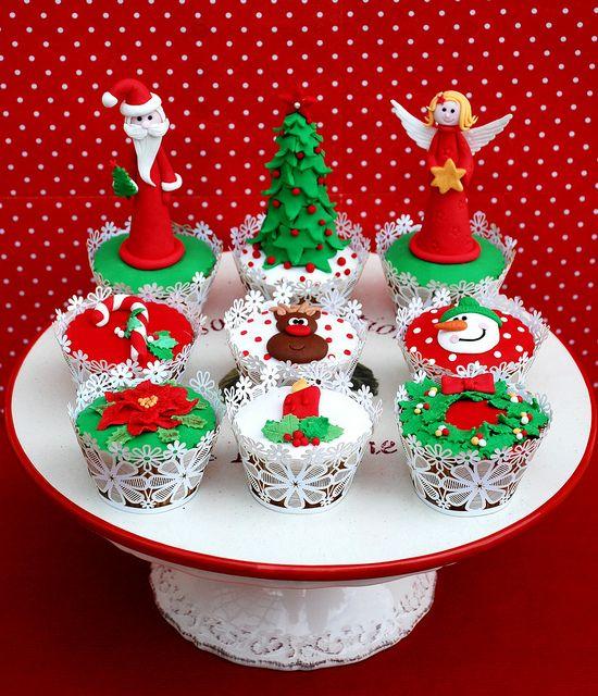 Cupcake Christmas by Alessandra Cake Designer, via Flickr