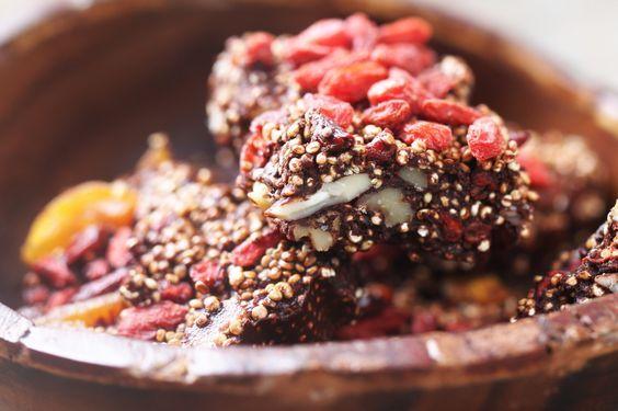 Energierepen met gepofte quinoa • Proeven met liefde