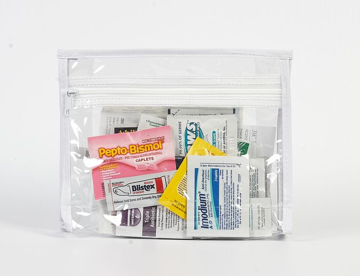nice and handy - a travel pack of everyday medicines, including 4 disposable thermometers